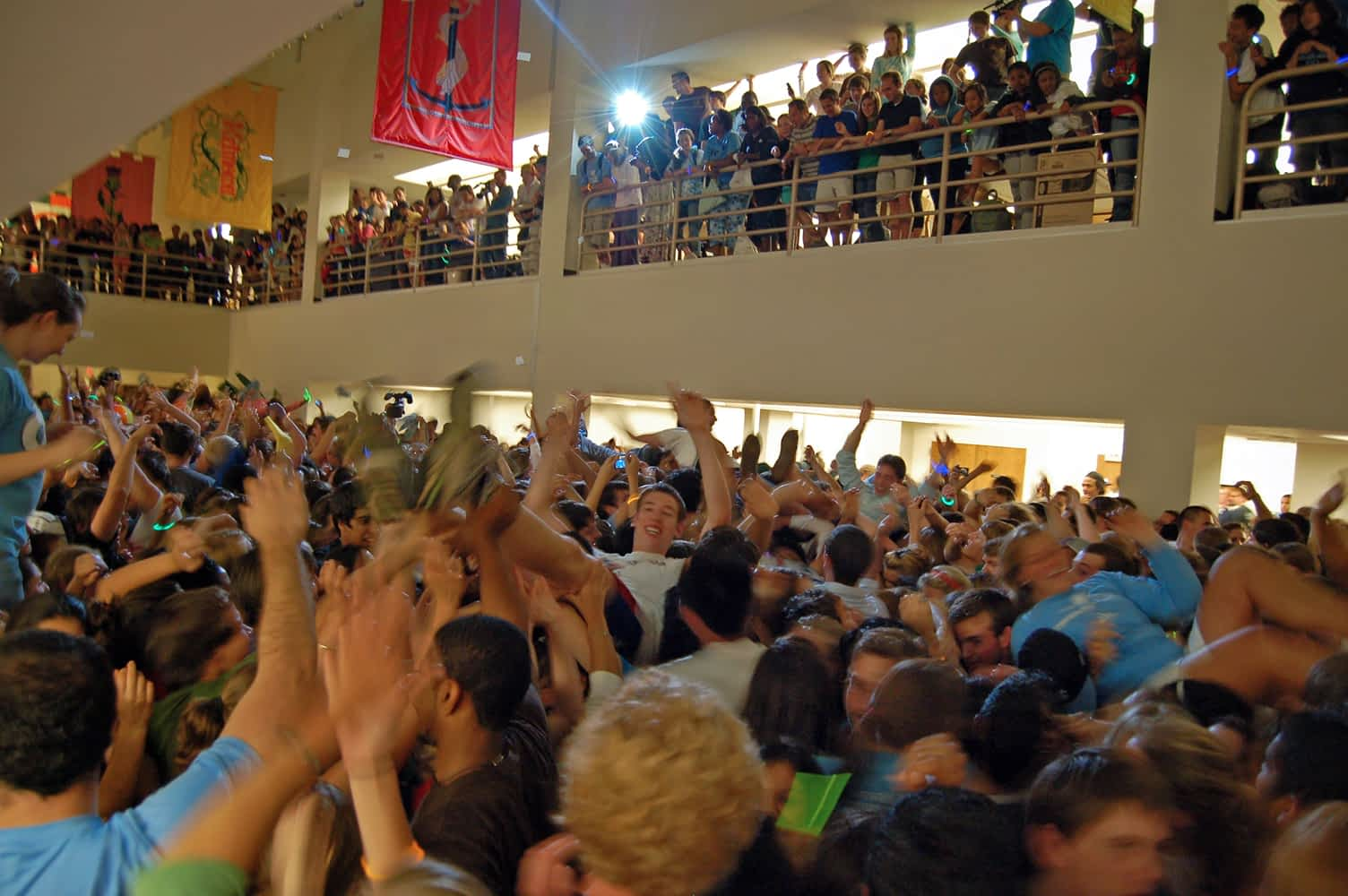 UNC_library_flash_mob_rave